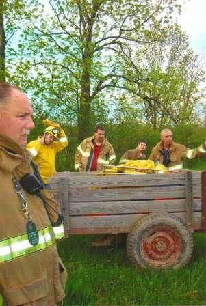 fire fighters in the woods