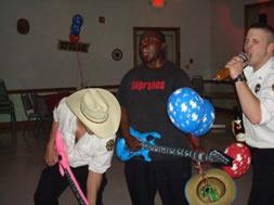 people playing fake instruments