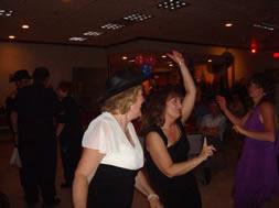 two ladies dancing