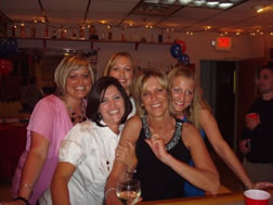 group of women at a party