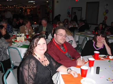 man and woman at a table