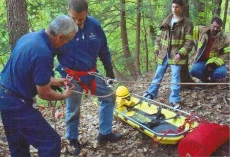 firefighters in the woods