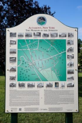 map of altamont, ny on a plaque